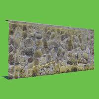 moss stone wall 3D model