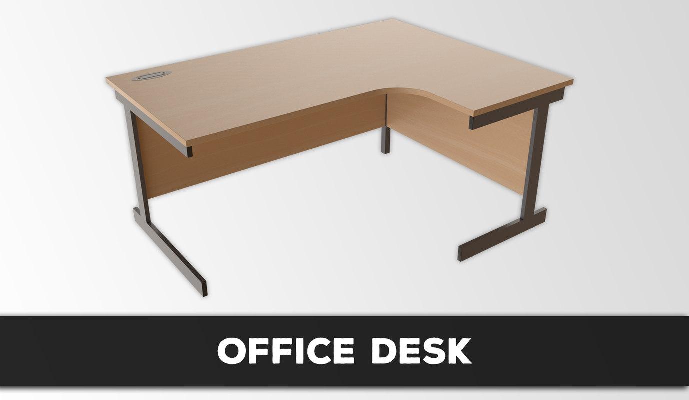 3D office desk model
