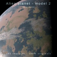Alien planet model 2 - 16k photorealistic -warm terran