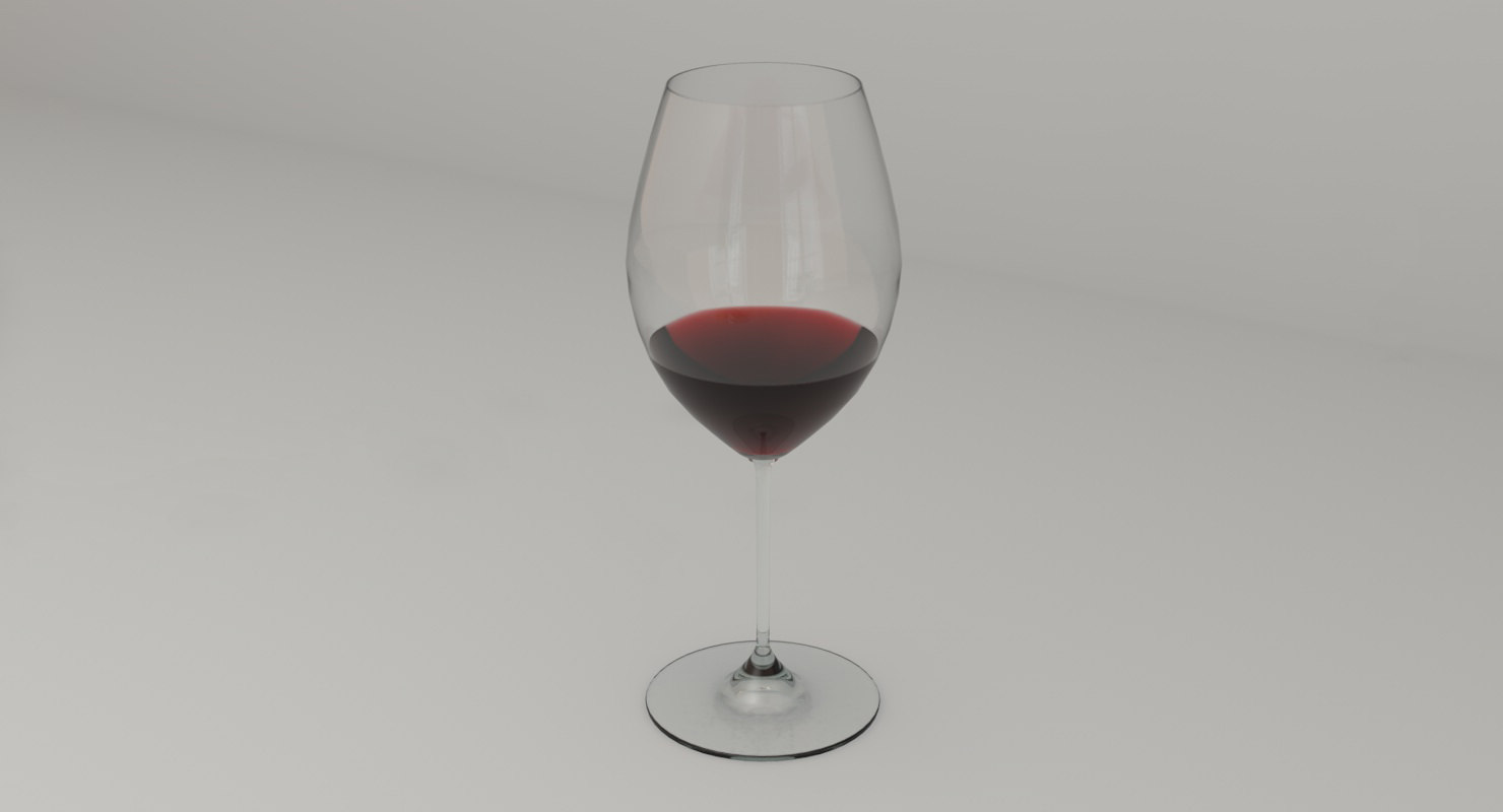 stem red wine glass 3D model