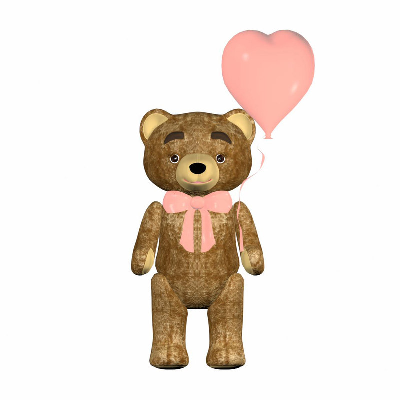 3D model happy bear