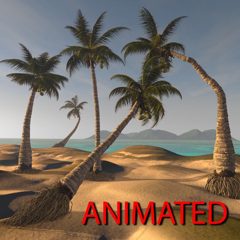 3D coconut palm model