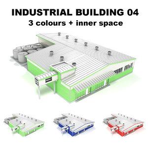 3d model 04 building industrial