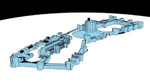 windsor castle illustrated 3D model