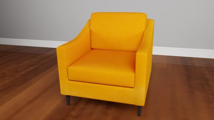 3D model decker flannel chair