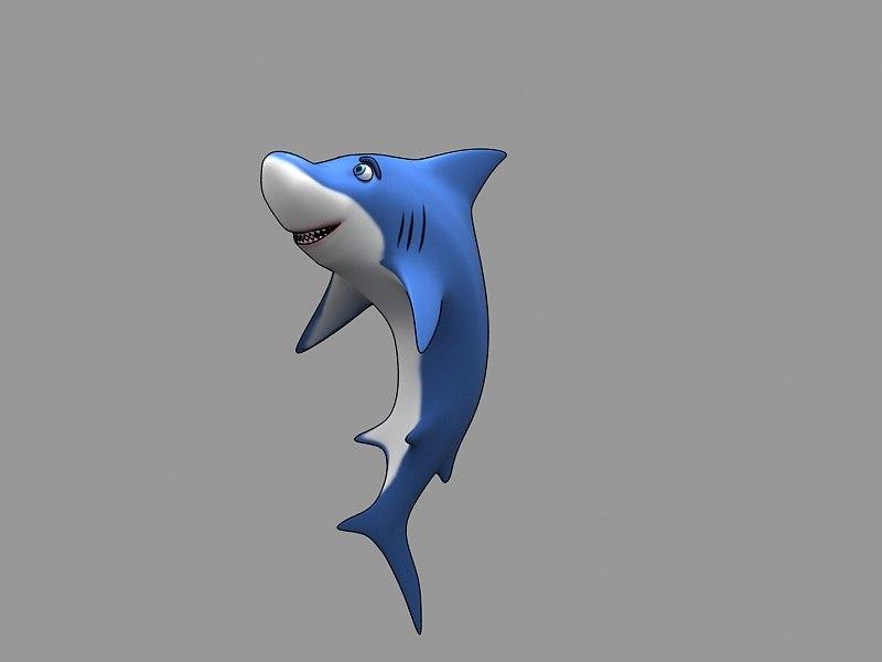 3D shark rose model