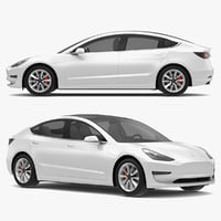 3D tesla 3 modeled s model