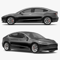 2018 Tesla Model 3 Solid Black