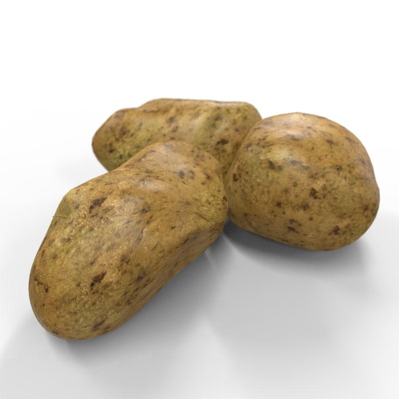 realistic potato 3D