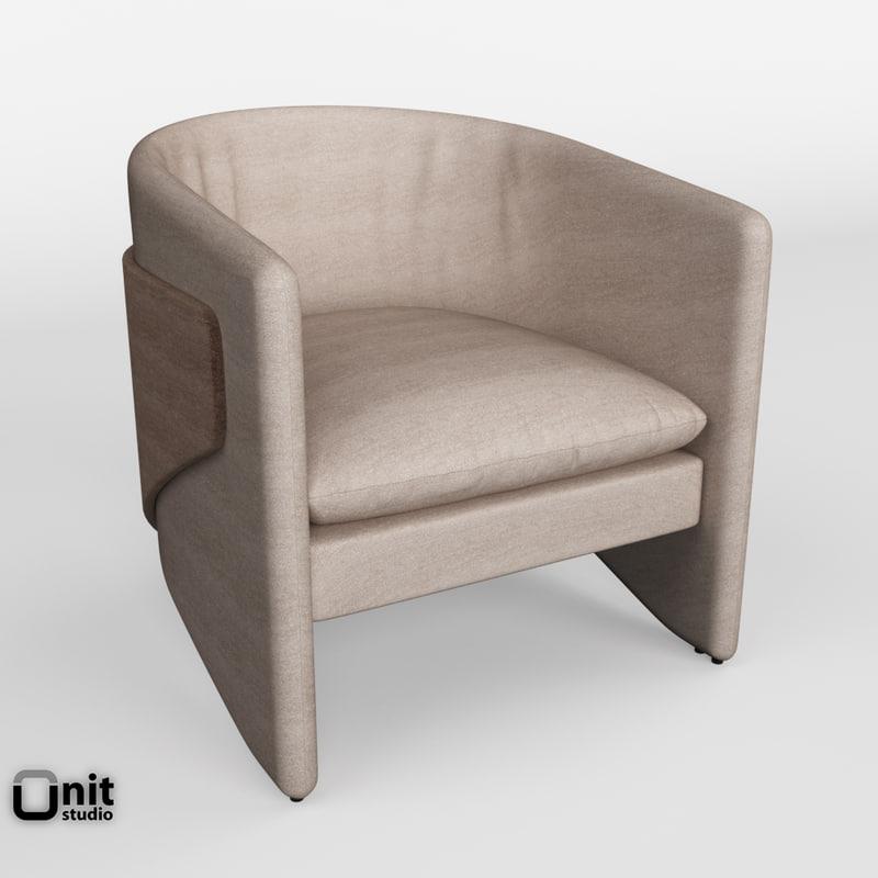 3D model avant thea chair