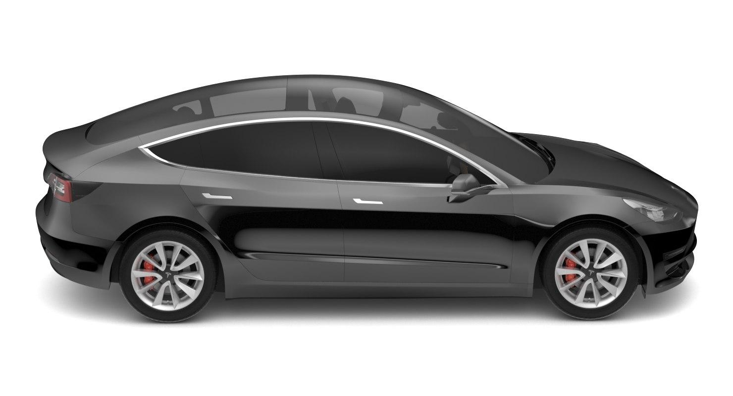 2018 Tesla Model 3 Solid Black