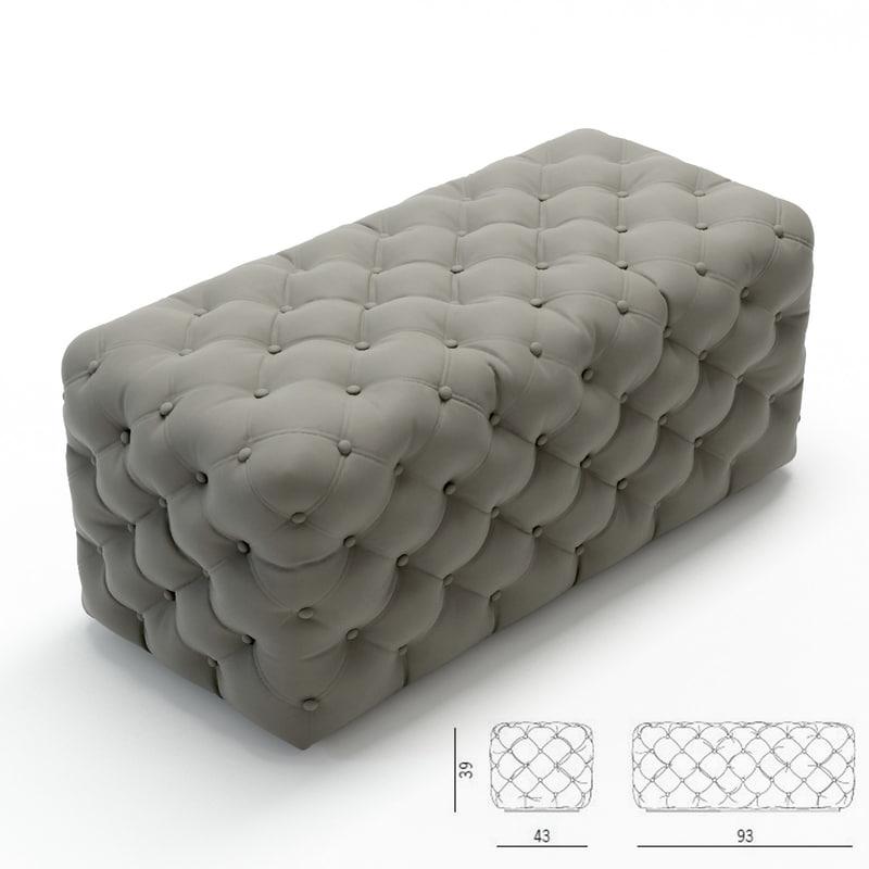 porada pouf 3d model