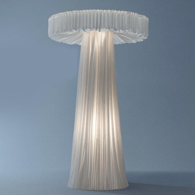 3d cappellini floor lamp model