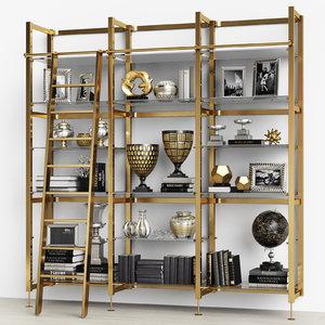 3D eichholtz cabinet delano stairs