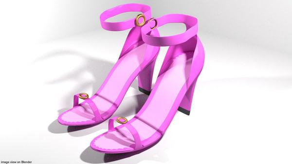 3D heel high-heeled shoe