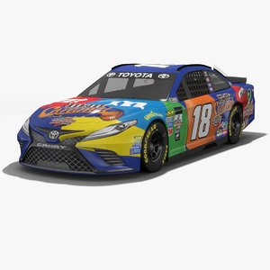 3D model joe gibbs racing nascar