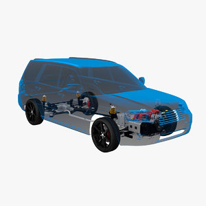 awd suspension x-ray 3D model