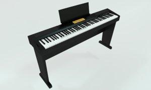 digital piano 3D model