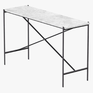 modern console table 3D model