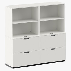 scandinavian filing cabinet 3D model