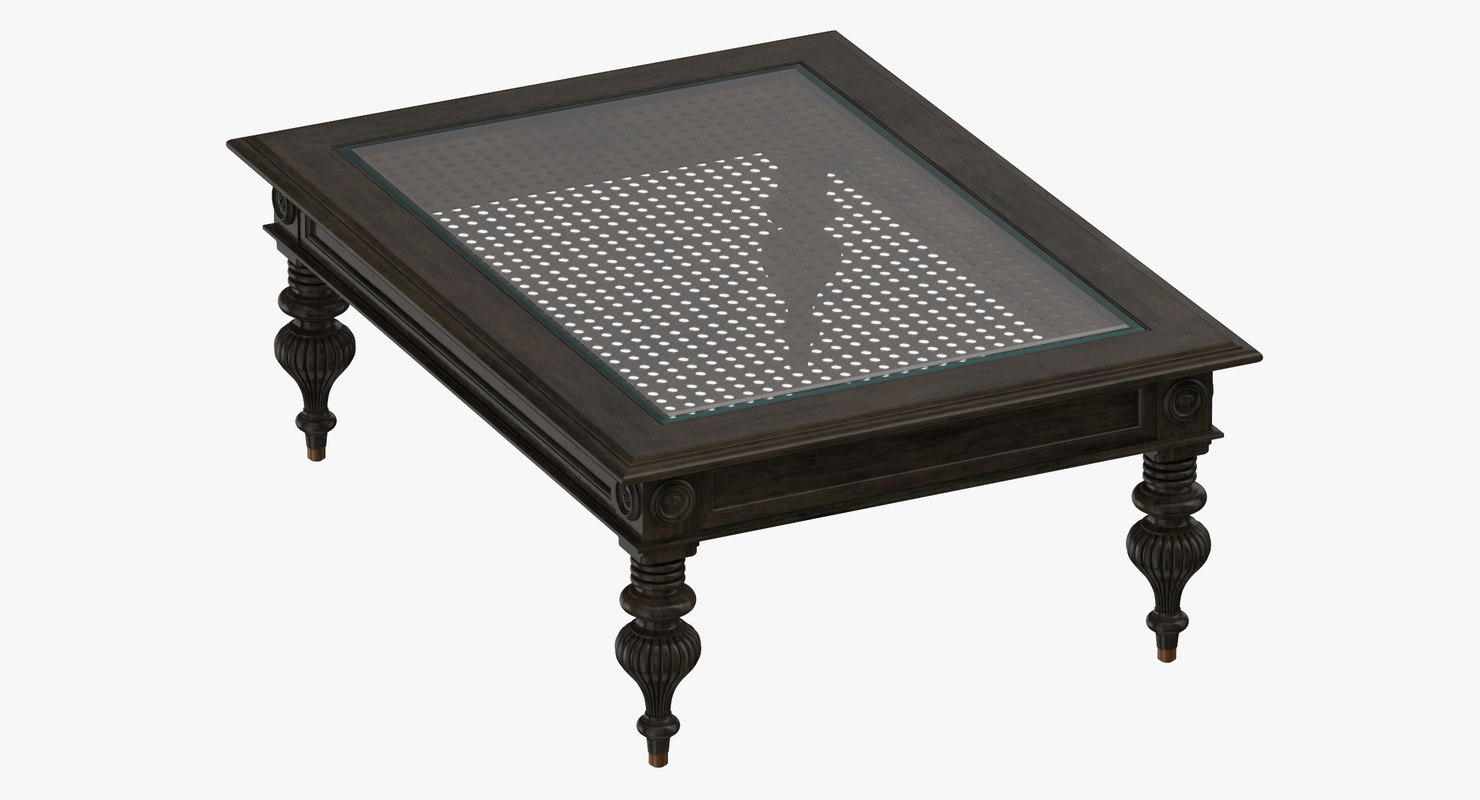 traditional coffee table 3D model