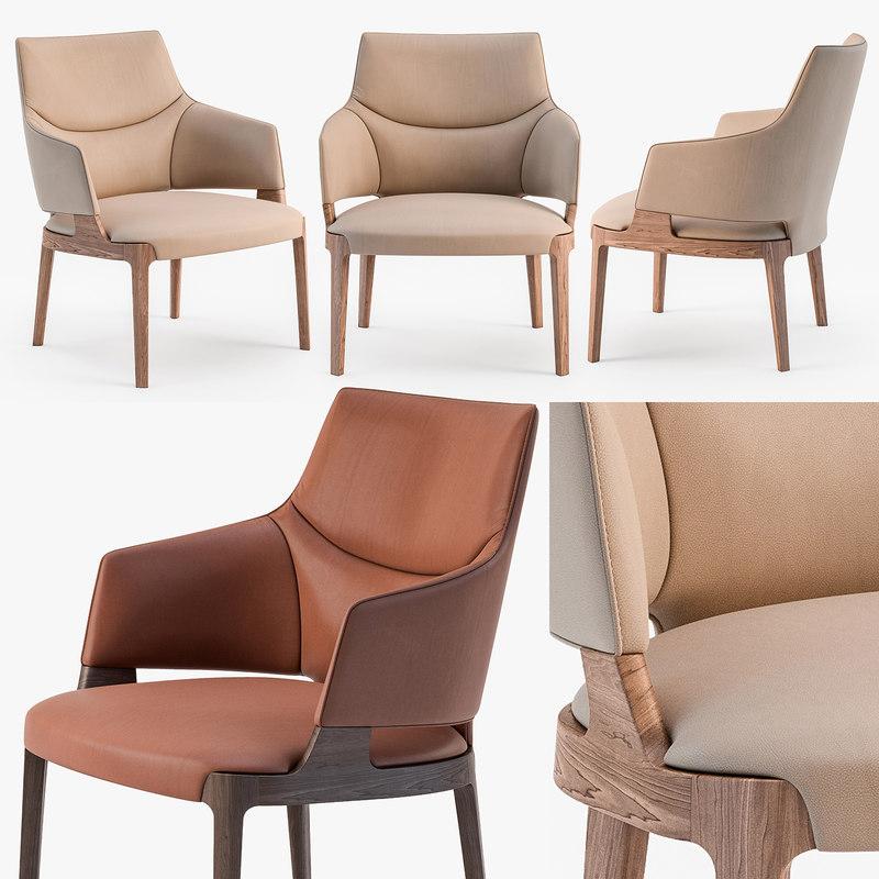3D potocco velis lounge armchair model
