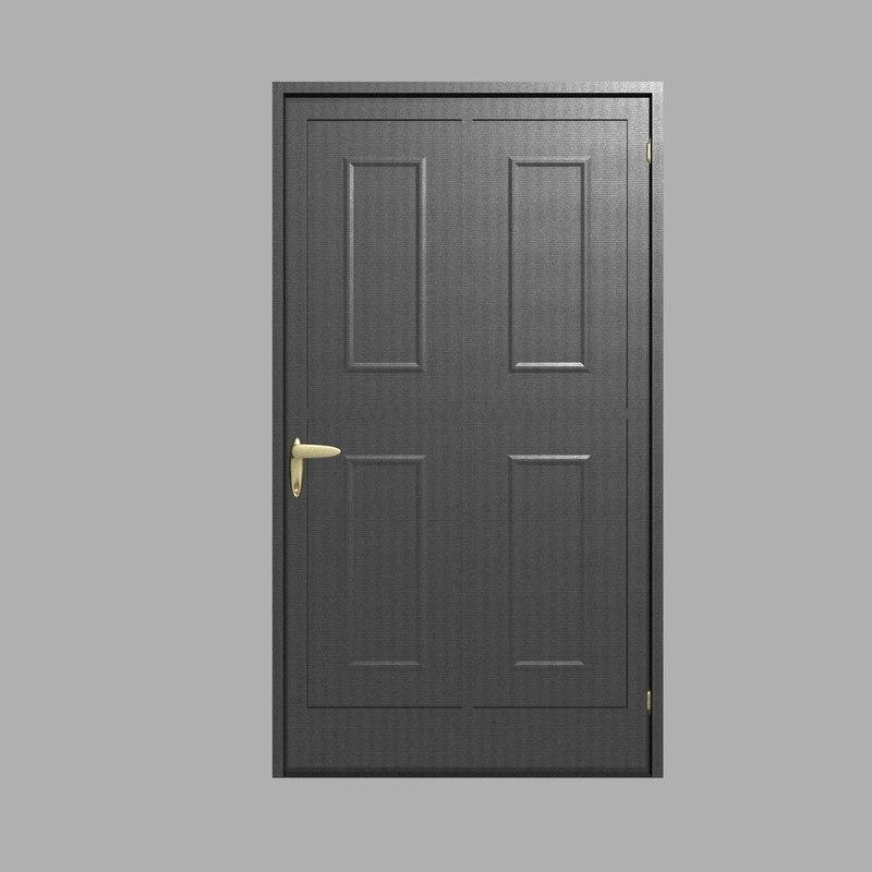 black iron door 3D model