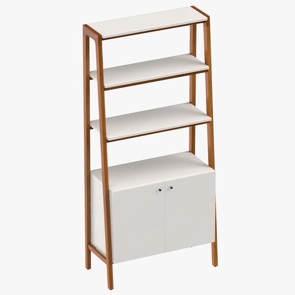 3D century modern bookcase