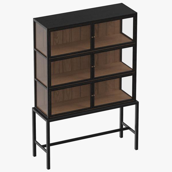 century modern display cabinet 3D model