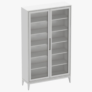 3D scandinavian display cabinet model