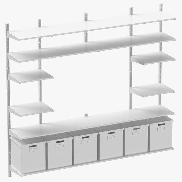 3D scandinavian shelving