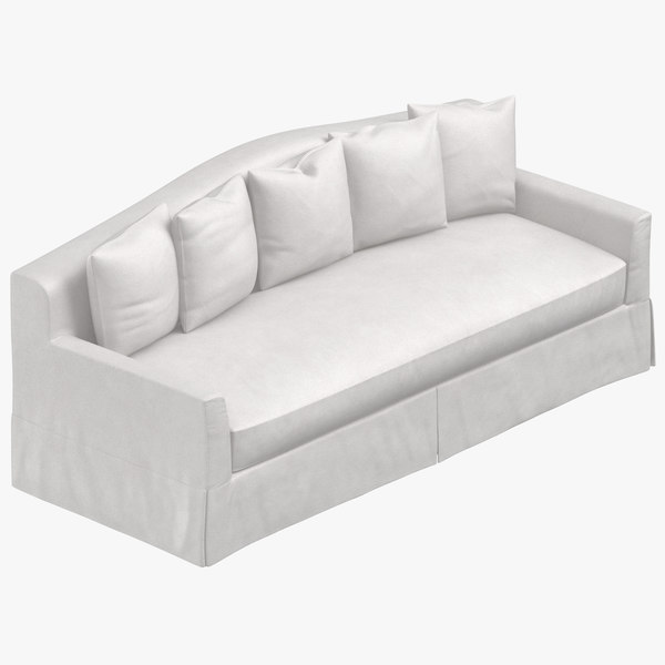 traditional 4 seater sofa 3D model