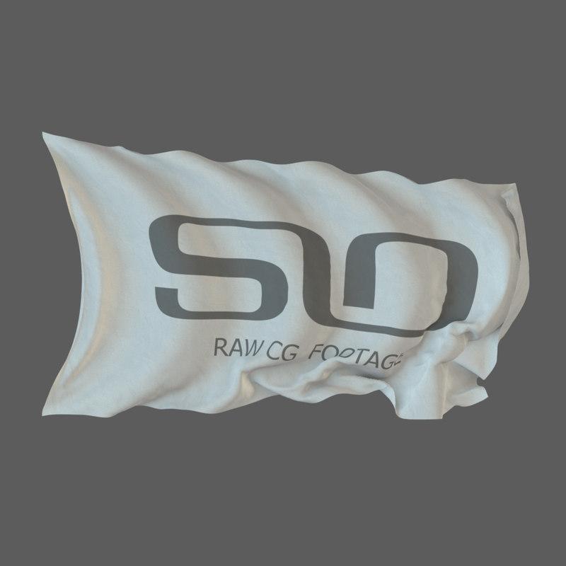 flags cyclic animation 1 3D
