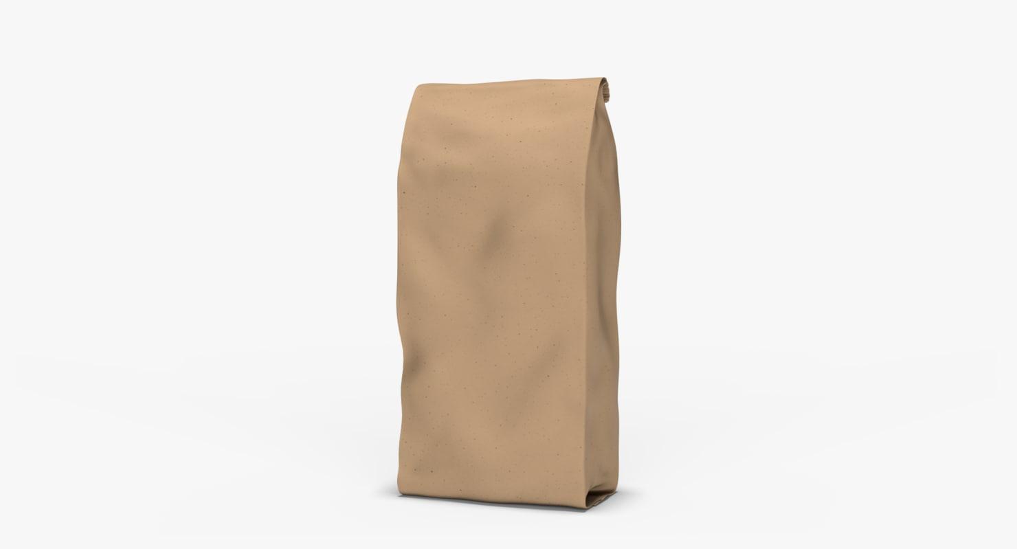 brown bag 3d obj