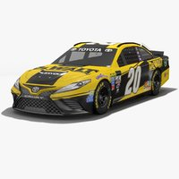 joe gibbs racing nascar 3D model