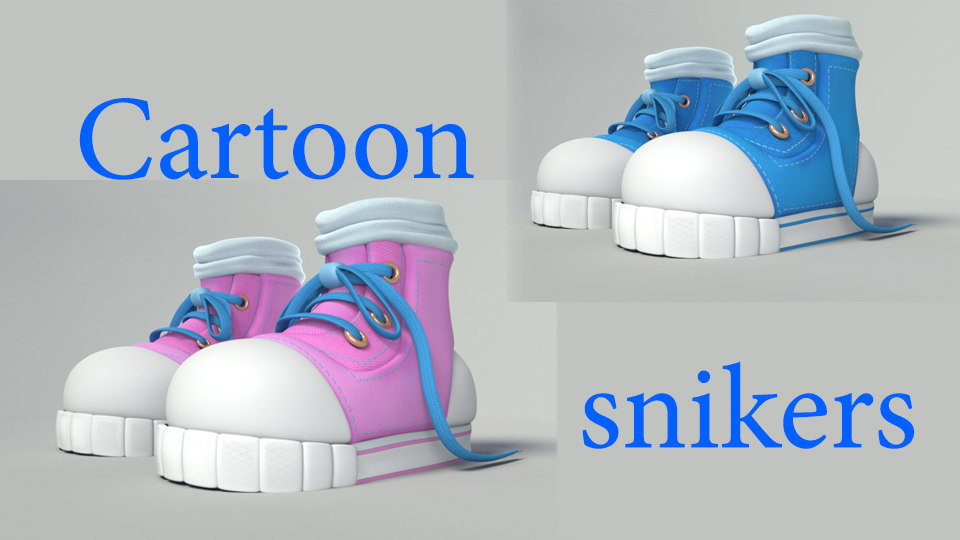 3D cartoon sneakers model