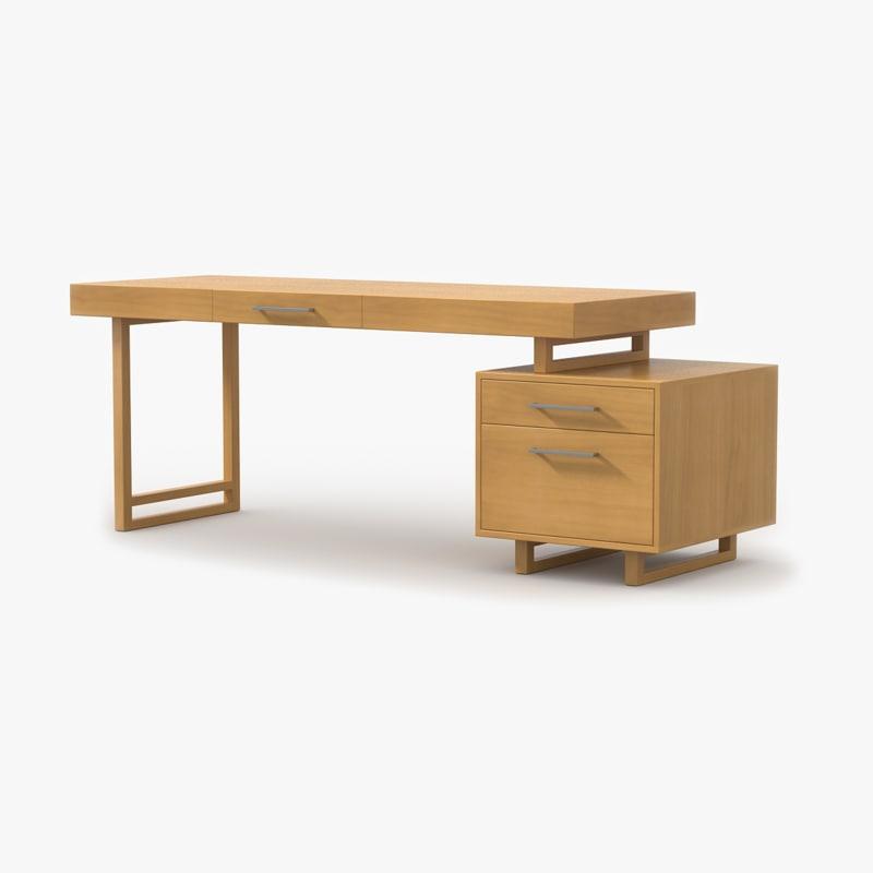 desk maple wood 3ds