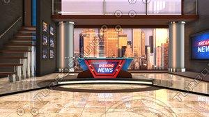 news studio 3D