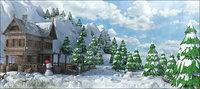 landscape snow 3D model