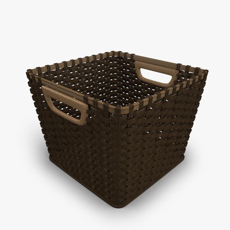 3D model basket modeled