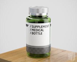 bottle medical supplement 3D model