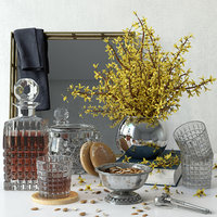 forsythia decorative set 3D model