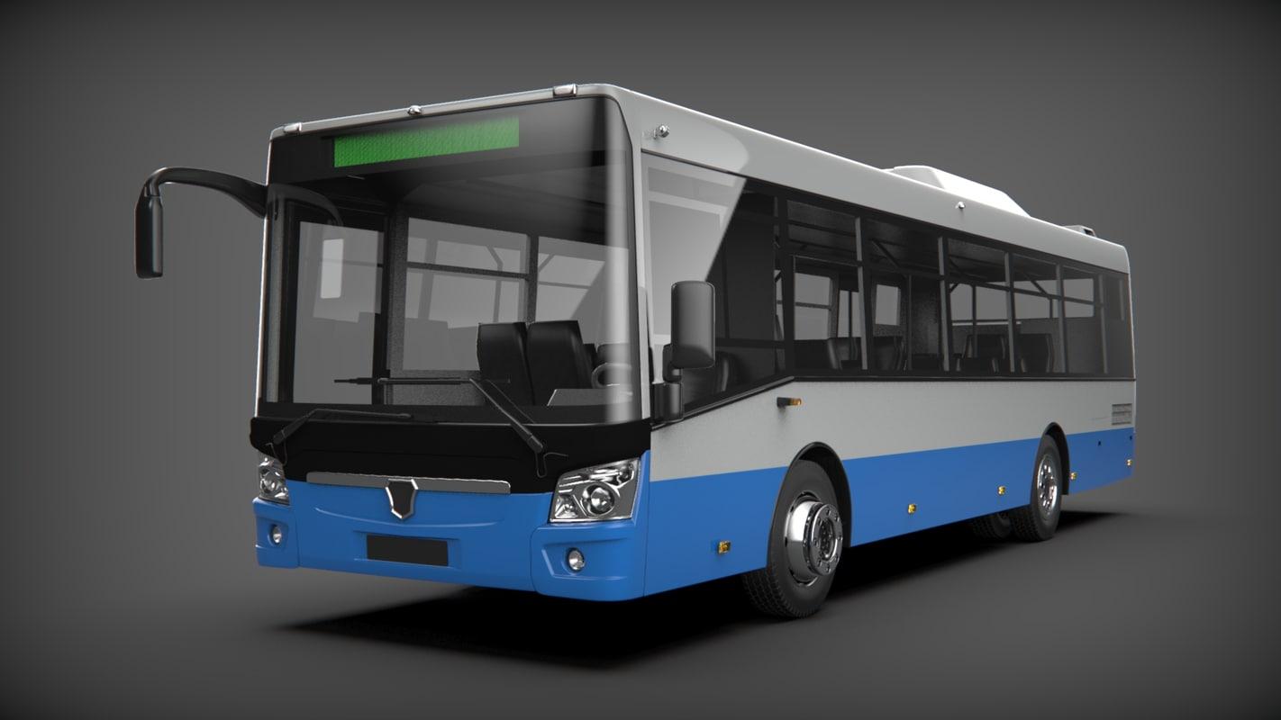 3D bus liaz 4292 model