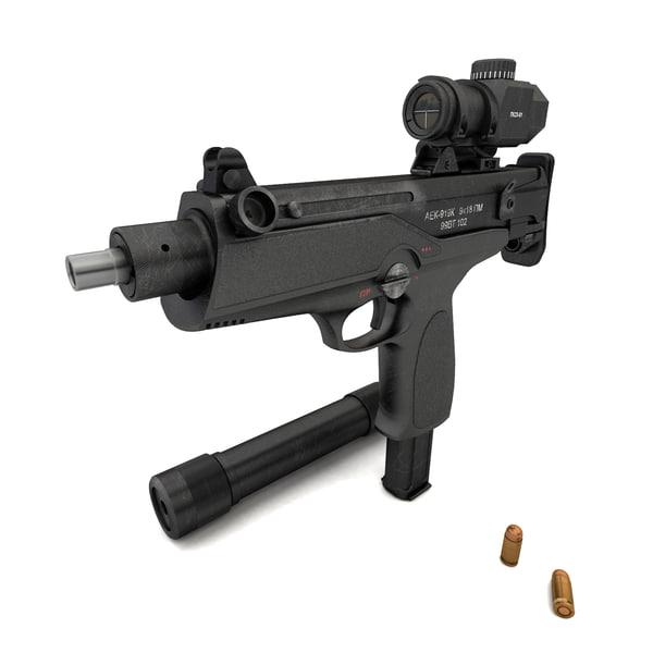 3D submachine gun aek-919k kashtan