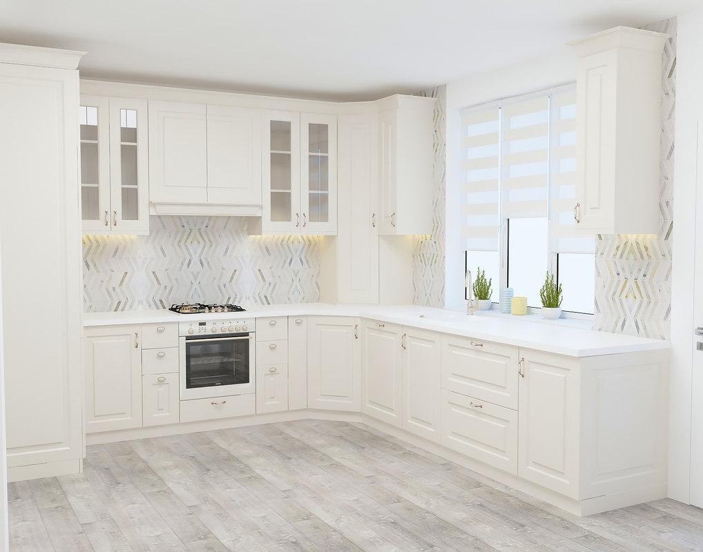 3D model classical kitchen design