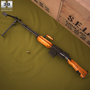 3D model browning m1918 automatic