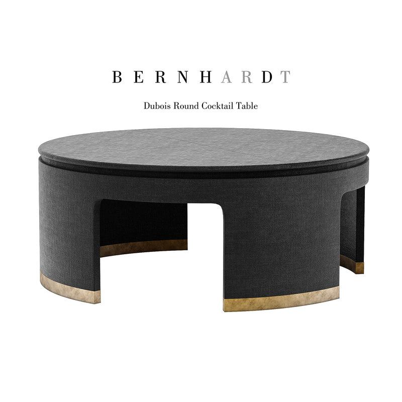 Bernhardt Dubois Cocktail Table Model Turbosquid 1253740