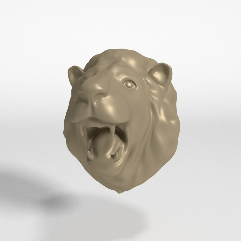 3D lion head model