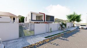 minimalist homes 3D model