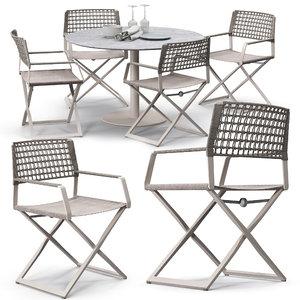 regista chair set 3D model
